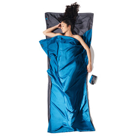 Cocoon TravelSheet - Drap de sac de couchage - Silk gris/bleu